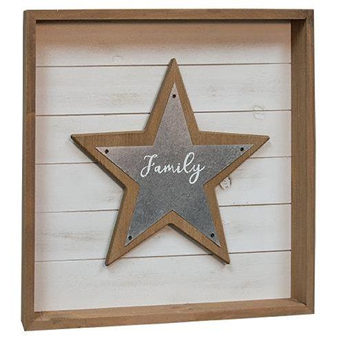 *Family Star Shadowbox Sign