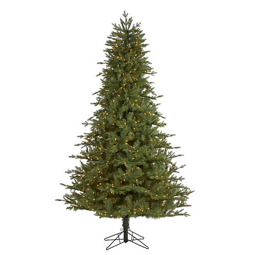 7.5' New Hampshire Spruce Artificial Christmas Tree with 650 Warm White Lights