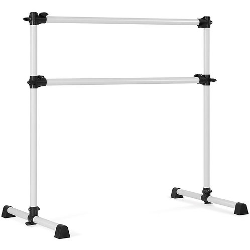 4ft Portable Height Adjustable Freestanding Ballet Barre-Silver