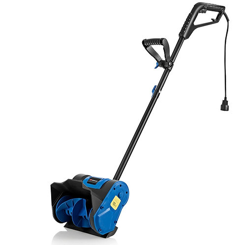 12-Inch 9 Amp Electric Corded Snow Shovel Driveway Yard Snow Thrower-Blue