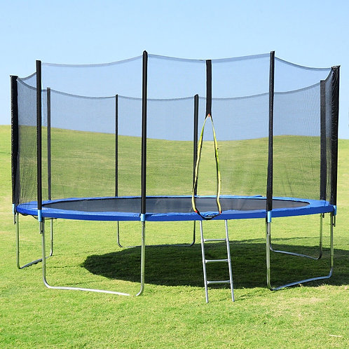 15' Trampoline with Enclosure Net Spring Pad & Ladder