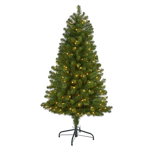 5' Virginia Fir Artificial Christmas Tree w 200 Clear Lights