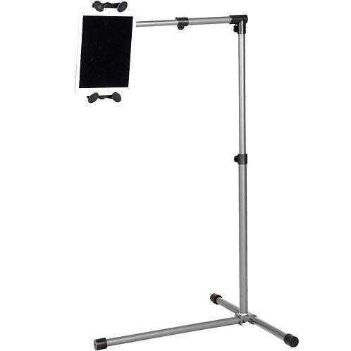 Universal Adjustable Rotating IPAD/Tablet PC Holder Floor Mount Stand -silver