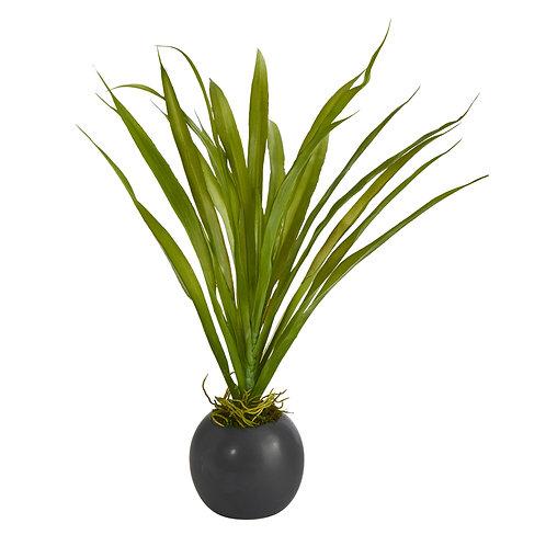 """15"""" Grass Artificial Plant in Decorative Planter"""