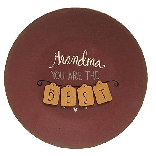 Best Grandma Plate