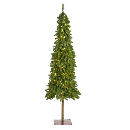 6' Alpine Artificial Christmas Tree with 200 Lights and 580 Bendable Branches