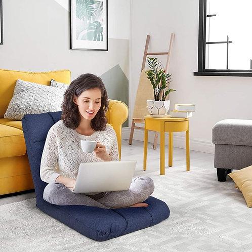 14-Position Adjustable Cushioned Floor Lazy Sofa Chair-Blue
