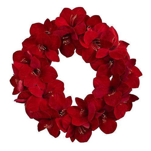 """22""""  Amaryllis Wreath"""