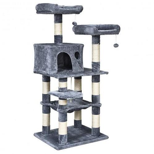 """55"""" Multi-Level Kitten Activity Tower with Hammock-Light Gray"""