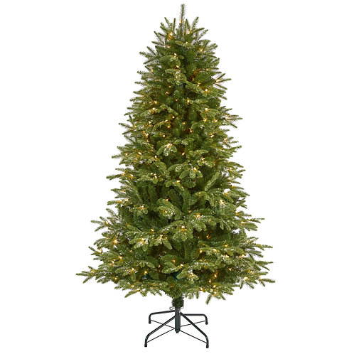 6' Snowed Grand Teton Artificial Christmas Tree with 300 Clear Lights