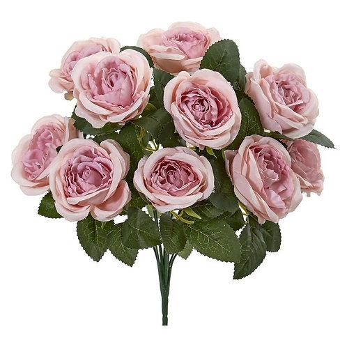 "14""  Rose Bush Artificial Flower (Set of 6)"