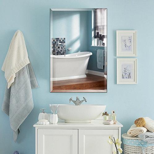 "24"" x 36"" Rectangle Wall Mounted Bathroom Beveled Mirror"