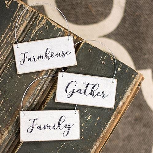 Gather Ornament 3 Asstd. (Pack of 4)