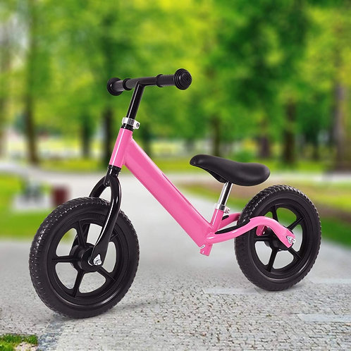 "12"" Balance Kids No-Pedal Learning Bicycle Black/Pink-Pink"