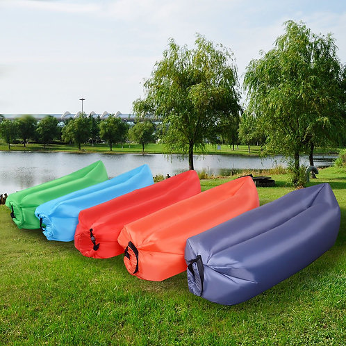 Outdoor Portable Lazy Inflatable Sleeping Camping Bed-Green