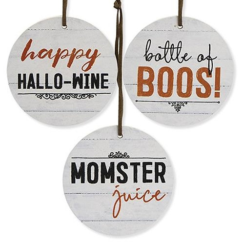 3/Set Happy Hallowine Tags