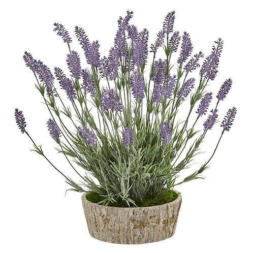 """20""""  Lavender Artificial Plant in Weathered Oak Planter"""