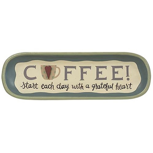 A Grateful Heart Coffee Tray