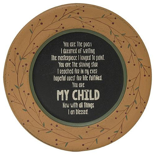 *My Child Plate