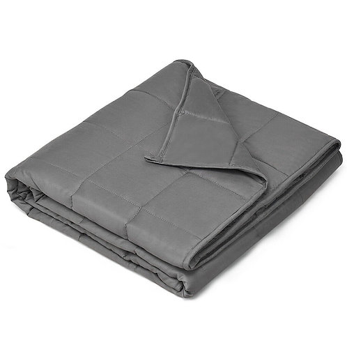 15 lbs 100% Cotton Weighted Blankets-Gray