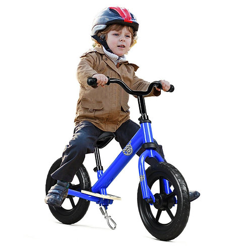 12� Kids No Pedal Balance Bike with Adjustable Seat-Blue