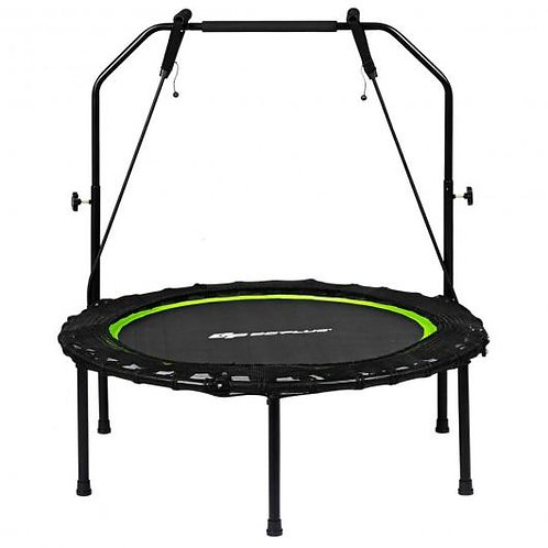 "40"" Foldable Fitness Rebounder with Resistance Bands Adjustable Home-Green"