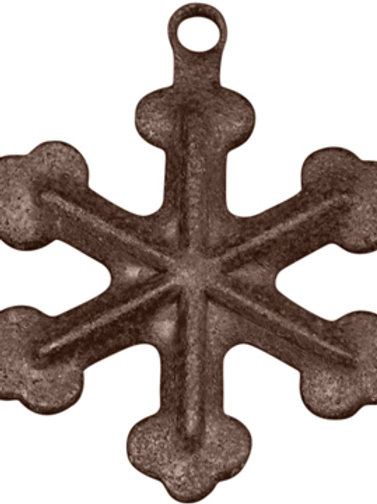 """CWI Gifts Rusty Mini Snowflakes, 12/Pkg, 3/4"""" (Pack Of 5)"""