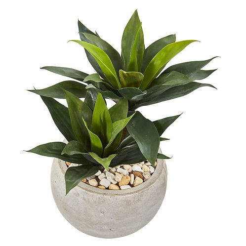 """21""""  Agave Artificial Plant in Sand Colored Bowl"""