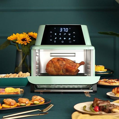19 QT Multi-functional Air Fryer Oven 1800W Dehydrator Rotisserie-Green