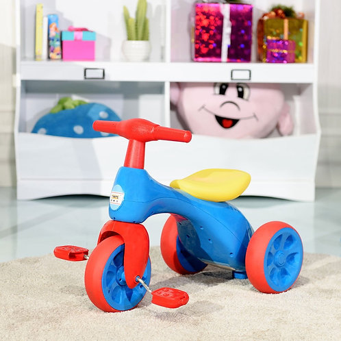 Toddler Tricycle Balance Bike Scooter Kids Riding Toys w/ Sound & Storage-Red