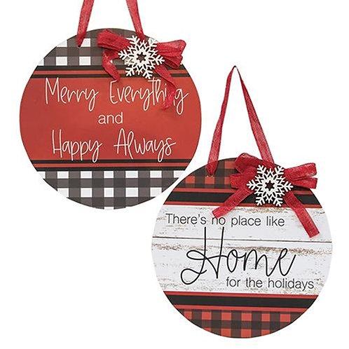 Merry Everything Door Ornament 2 Asstd.