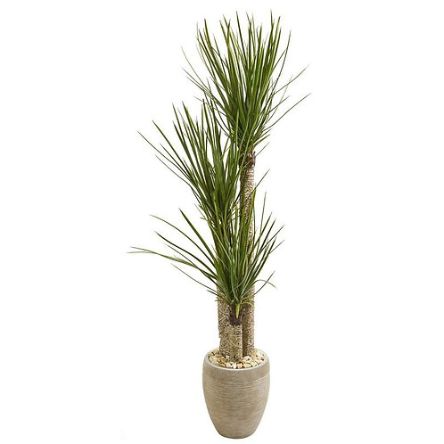 "64""  Yucca Artificial Tree in Sand Colored Planter"