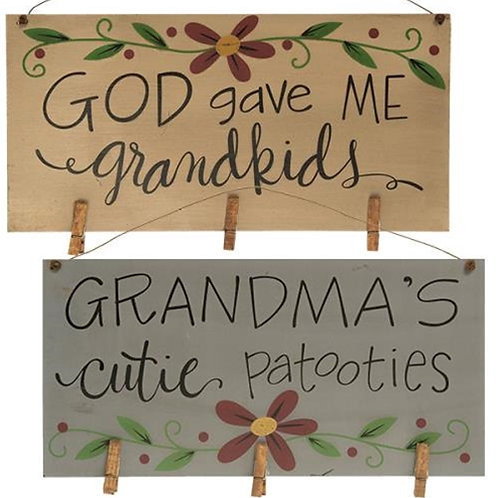 Grandma's Cuties Photo Holder 2 Asstd.