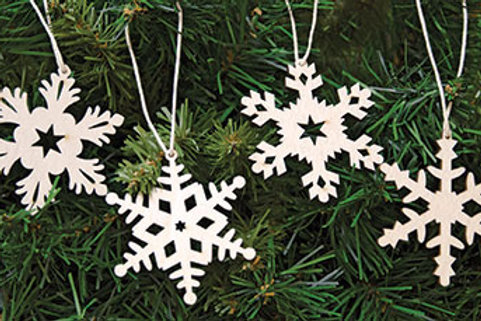 Pack of 2 24/Set Snowflake Ornaments