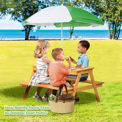 3 In 1 Convertible Picnic Table Set for Kids