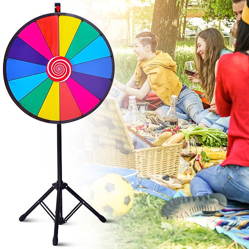 """24"""" Editable Dry Erase Extension Base Fortune Spinning Game"""