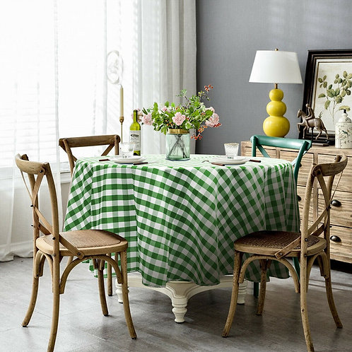2 Pcs Stain Resistant and Wrinkle Resistant Table Cloth-Green