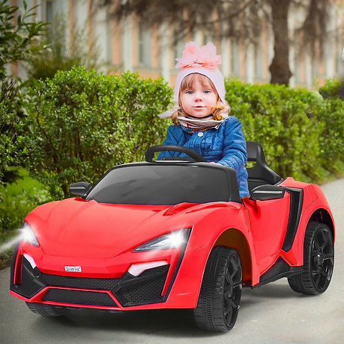 12V 2.4G RC Electric Vehicle with Lights-Red