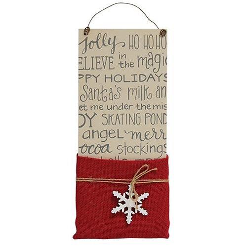 *Santa's Letters Burlap Pocket