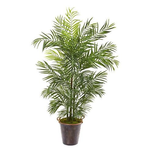"69""  Areca Palm Artificial Tree in Metal Pail UV Resistant (Indoor/Outdoor)"
