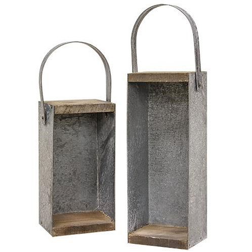 2/Set Rustic Candle Boxes
