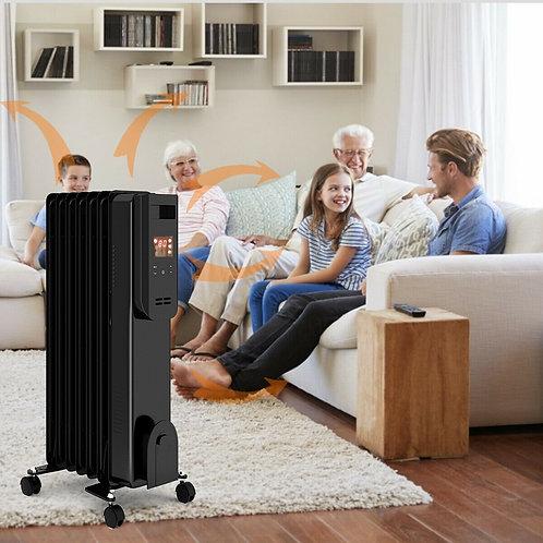 1500W LCD Electric Radiator Heater w/ Remote Control