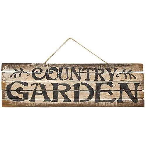 Hanging Lath Country Garden Sign