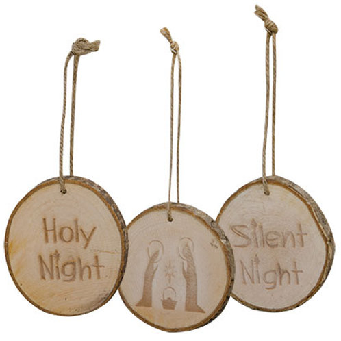 *Holy Night Tree Tag 3 Asstd.