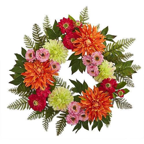20'' Dahlia Wreath