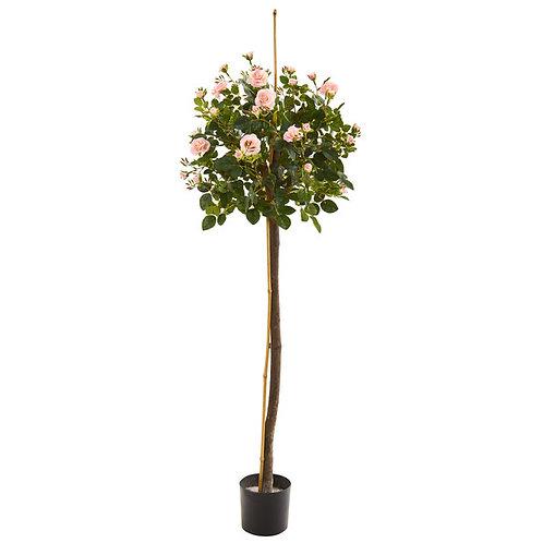 4' Rose Topiary Artificial Tree