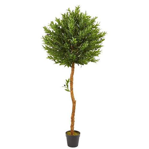 "5.5""  Olive Topiary Artificial Tree UV Resistant (Indoor/Outdoor)"