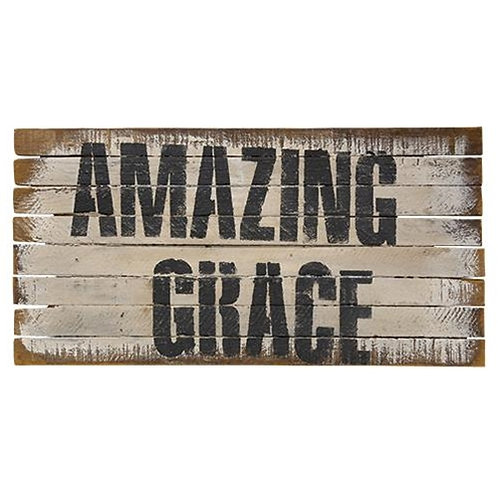 Amazing Grace Lath Sign