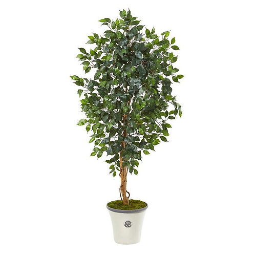 "65""  Ficus Artificial Tree in Decorative Planter"