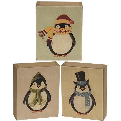 Penguin Box Sign 3 Asstd.